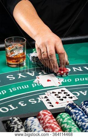 A Casino BlackJack table game