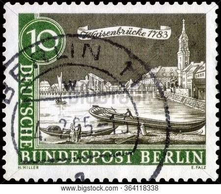 Saint Petersburg, Russia - April 21, 2020: Postage Stamp Printed In The West Berlin With The Image O