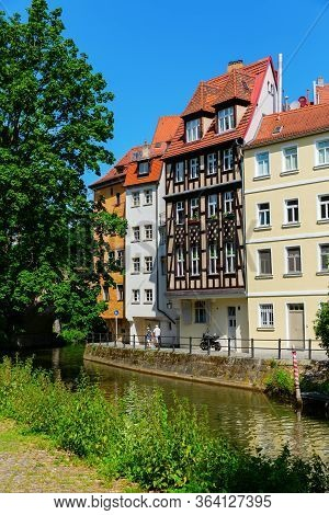 View At The River Regnitz In The Old Town Of Bamberg, Germany