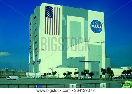 Cape Canaveral, Florida, U.s.a - February 17, 2019 - The View Of The Main Building Of National Aeron