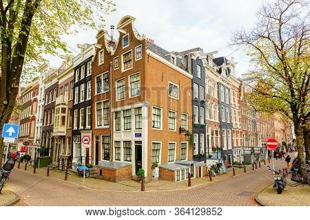 Cityscape With Typical Buildings In Amsterdam, Netherlands