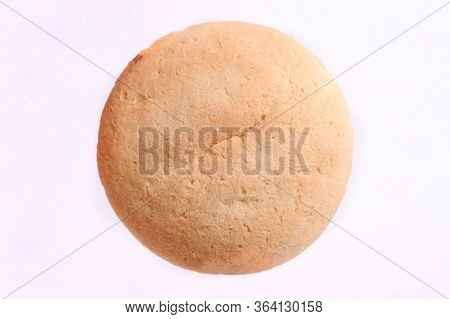 Baby Biscuit Rusk, Isolated On Yellow Background