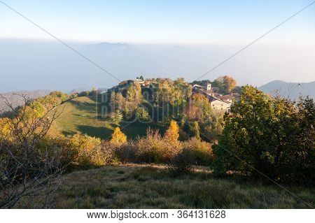 Hermitage Of Conche, Trompia Valley, Brescia. Italy Alps Landmark