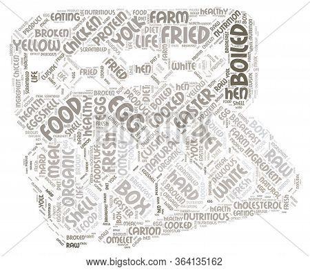 Eggs Word Cloud Art Poster Illustration