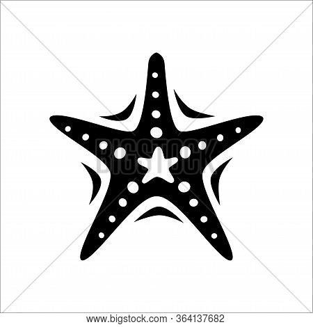 Vector Star Of A Starfish With A White Background. Flat Vector Starfish Icon Symbol From A Modern Ma