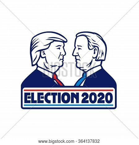 May 01, 2020, Auckland, New Zealand: Mascot Illustration Of American Presidential Candidate For 2020
