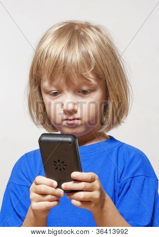 Boy With Computer Game