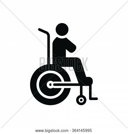 Black Solid Icon For Disability Reasonable Accommodation