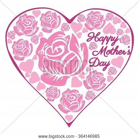 Vector Rose Heart Mother's Day