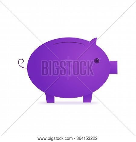 Piggy Bank Savings Isolated Icon. Wealth And Investment, Retirement Planning And Insurance Concept.