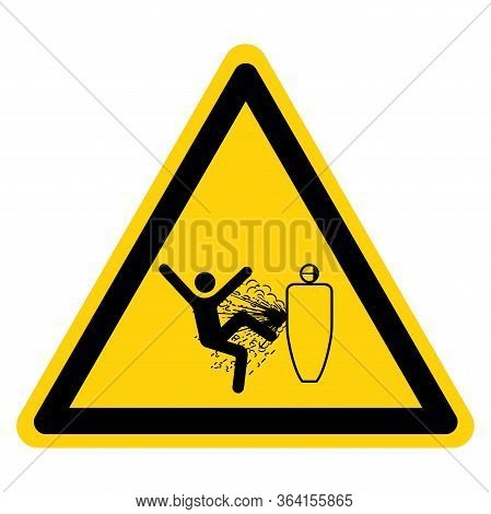 Warning Servicing While Pressurized Can Severe Injury Symbol Sign ,vector Illustration, Isolate On W