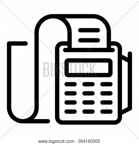 Bill Machine Icon. Outline Bill Machine Vector Icon For Web Design Isolated On White Background