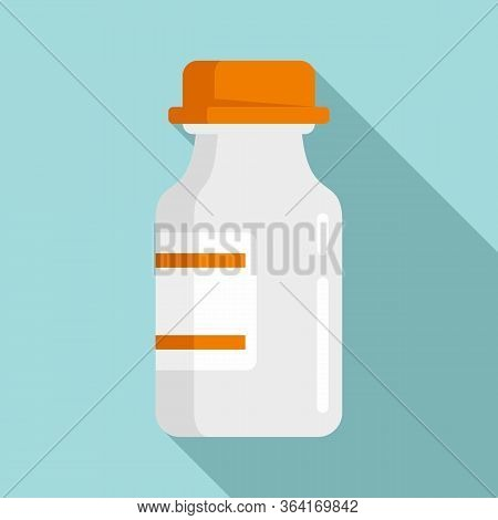 Medical Insulin Pot Icon. Flat Illustration Of Medical Insulin Pot Vector Icon For Web Design