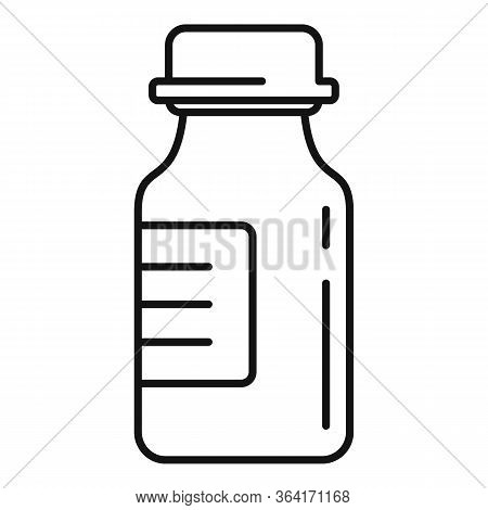 Medical Insulin Pot Icon. Outline Medical Insulin Pot Vector Icon For Web Design Isolated On White B