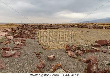 The Architectural And Archaeological Complex Akyrtas. Kazakhstan. Destroyed Walls Of The Fortificati