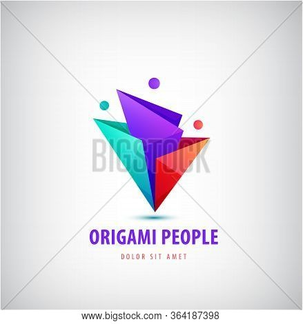 Vector Men, People Group, Family Logo. Child Adoption Logo Collection And Charitable Foundations, So