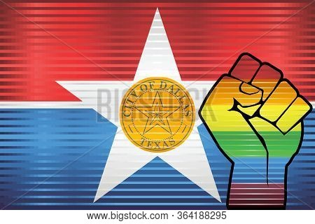 Shiny Grunge Dallas And Gay Flags - Illustration, Abstract Grunge Dallas Flag And Lgbt Flag