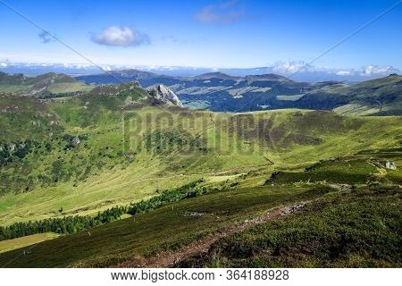 Puy Mary And Chain Of Volcanoes Of Auvergne In Cantal, France