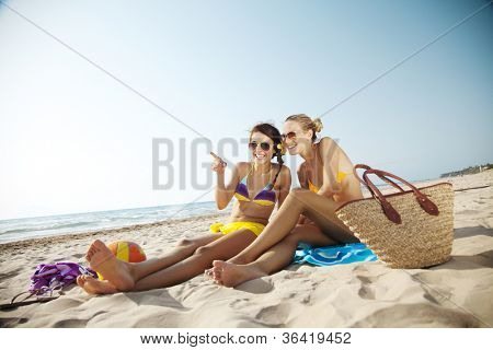 two young females at the beach