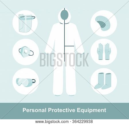 Ppe Personal Protective Equipment For Airborne Contaminants.complete Protection Kit Full Body Medica