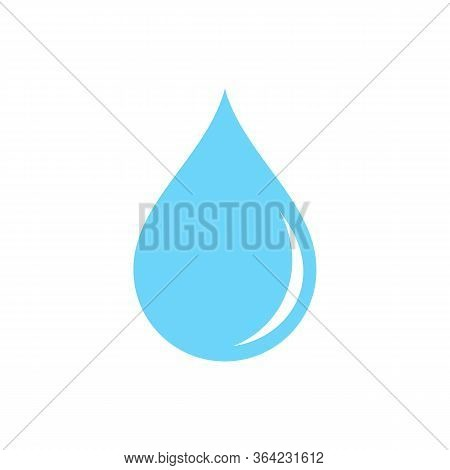 Droplet Water Icon Flat In Black On Isolated White Background. Eps 10 Vector.