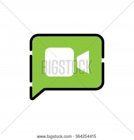 Video, Video Call Icon, Video Call Vector, Video Call Icon vector, Video Calling icon, Video Call vector icons, Video Call app icon. Video Call Icon Vector Illustration. Video Call icon flat design vector for web icons, symbol, logo, sign, UI.