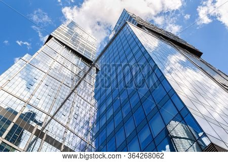 Moscow, Russia - July 9, 2019: Skyscrapers Of Moscow City Complex. Moscow International Business Cen