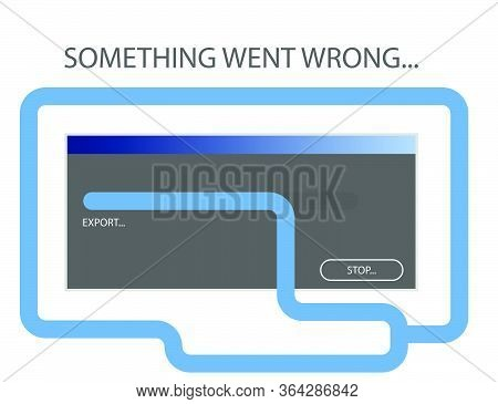 Screensaver, Illustration. An Error Occurred While Exporting The Object In The Program. Incorrect Op