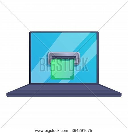 Online Cash Loan Icon. Cartoon Of Online Cash Loan Vector Icon For Web Design Isolated On White Back