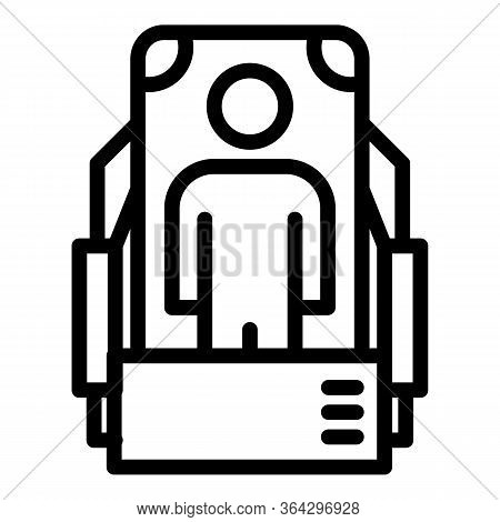Medical Scanning Icon. Outline Medical Scanning Vector Icon For Web Design Isolated On White Backgro