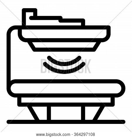 Medical X Ray Scanner Icon. Outline Medical X Ray Scanner Vector Icon For Web Design Isolated On Whi