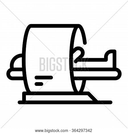 Magnetic Scanner Icon. Outline Magnetic Scanner Vector Icon For Web Design Isolated On White Backgro