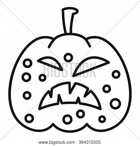 Carving Pumpkin Icon. Outline Carving Pumpkin Vector Icon For Web Design Isolated On White Backgroun