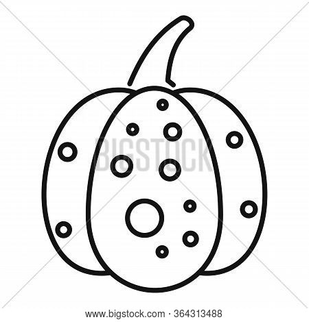 Jack Pumpkin Icon. Outline Jack Pumpkin Vector Icon For Web Design Isolated On White Background