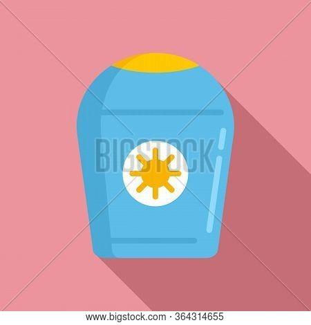 Antiseptic Cream Bottle Icon. Flat Illustration Of Antiseptic Cream Bottle Vector Icon For Web Desig
