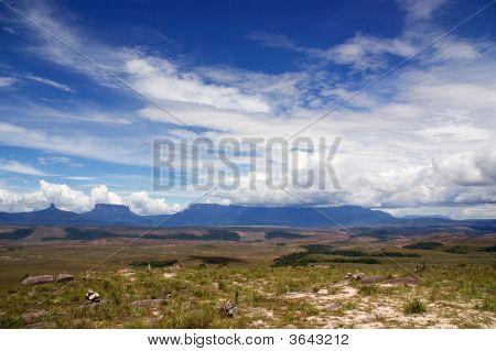 Paratepui Under Blue Cloudy Sky