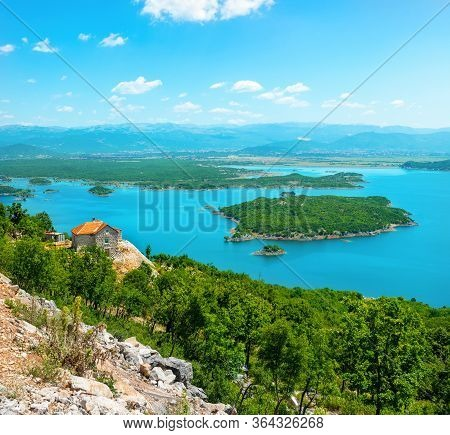 View To The Mountains And Skadar Lake