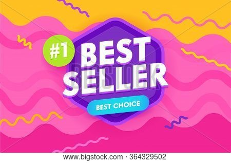 Bestseller Banner, Promotion And Shopping Template For Hot Offer And Sale. Flyer Design, Social Medi