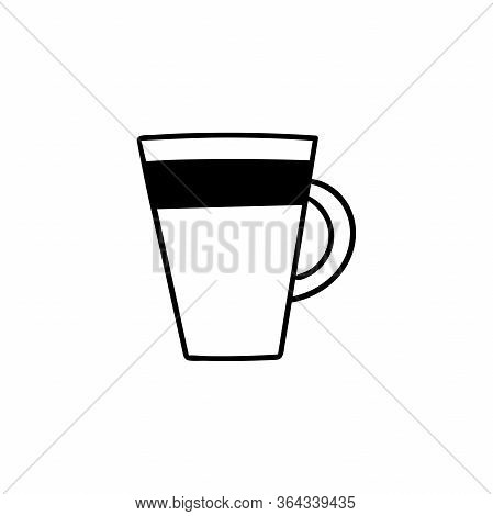 Vector Doodle Mug Of Coffee Or Tea. Cooking, Kitchen Utensils, Home Elements. Hand Illustration Isol