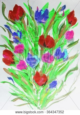 Oil Painting, Impressionism Style, Flower Painting, Still Canvas Painting, Artist, Painting, Waterco
