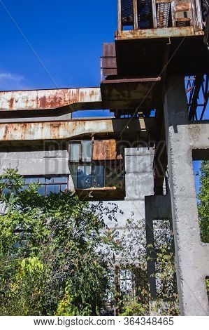 Abandoned Factory. Chernobyl Region. The Lost City Of Pripyat. Modern Ruins. Ukraine. Kiev Region