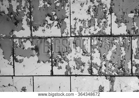 Texture Of Wall With Peeling Cracked Paint - Image.