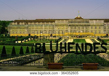 Ludwigsburg,germany - April 20,2020:moempelgardstrasse This Is The Big, Historic Residenzschloss,whi