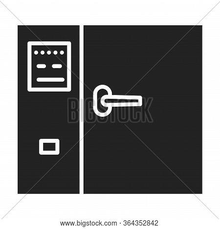 Hot Air Sterilizer Glyph Black Icon. Sterilize Small Surgical Instrument, Glass, Petri Dishes Etc. O