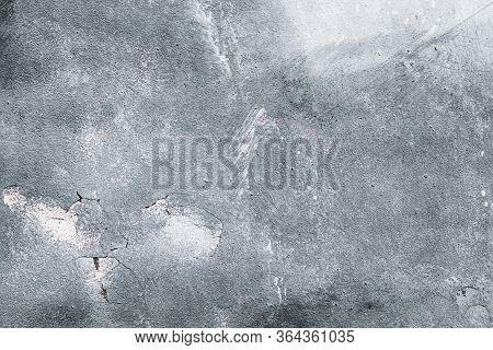 Gray Concrete Wall, Grey Urban Background, Old Grunge Monochrome Texture. Architecture Rough Backdro