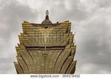 Grand Lisboa, Famous Hotel And Casino In Se, Macau, China