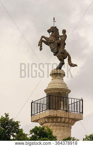 Macau (macao Sar) / China - July 26, 2015: Statue Of Julius Caesar On A Horse, At Macau Fisherman's