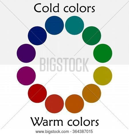Color Spectrum - Printing Color Wheel With Different Colors - Cool And Warm Colors