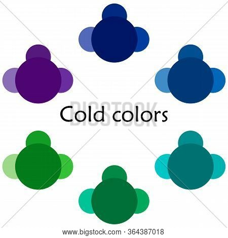 Cold Colors Illustration - Multicolored - Shades And Tones - Cool Colors