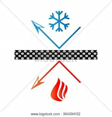 Reflective Surface Icon - Heat Preservation Material - Snowflake And Fire